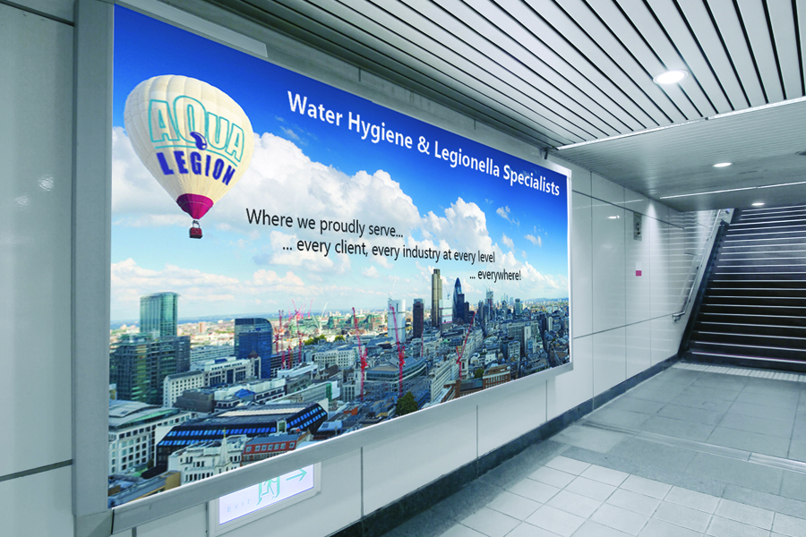 Legionella Risk Assessment Specialist underground advertisement